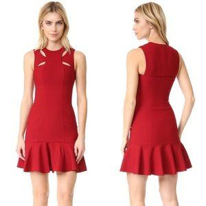 Cinq a Sept crimson mini dress